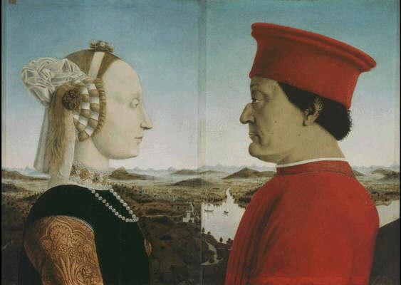 Piero della Francesca: Picture of The Duke and Duches of Urbino - Uffizi Gallery, Florence