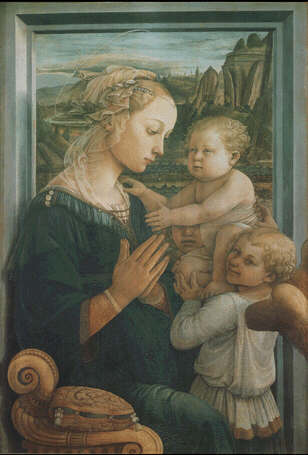 Filippo Lippi: Picture of Madonna and Child with two angels - <span class=