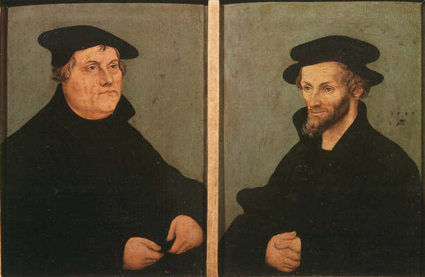 Lukas Cranach the Elder: Picture of Martin Luther and Philipp Melanchthon - Uffizi Gallery, Florence