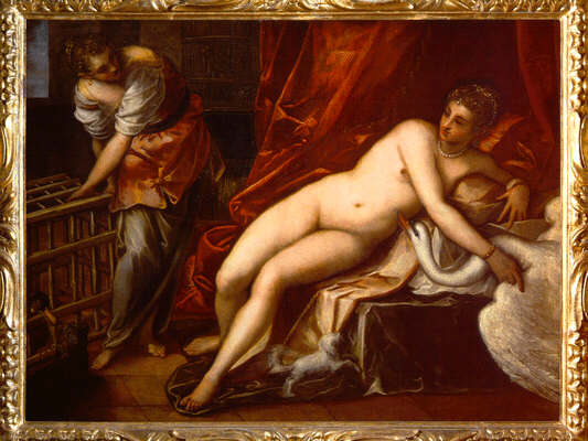 Jacopo Robusti called Tintoretto: Picture of Leda and the Swan - Uffizi Gallery, Florence
