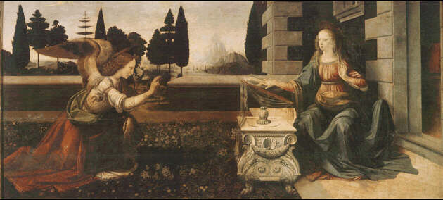 Leonardo da Vinci: Picture of Annunciation - Uffizi Gallery, Florence