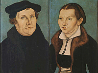 Martin Luther and and his wife