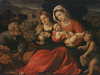 Holy Family with the Young Saint Jhon and Mary Magdalen