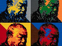Ai Weiwei gives the Uffizi Gallery a self-portrait made with Lego
