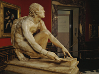 The Arrotino, ancient sculpture at the Uffizi