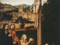 Crucifixion with Mary Magdalen and Donors