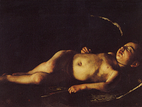 The Sleeping Cupid by Caravaggio in Lampedusa