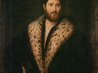 Portrait of a man with a fur collar