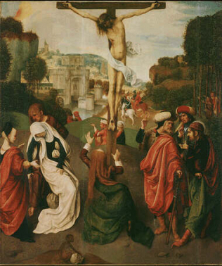 Crucifixion - Master of Virgo inter Virgines (Oil on wood, 57x47)