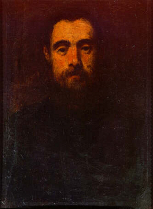 Portrait of a Man - Jacopo Robusti called Tintoretto (Oil on wood, 30x22)