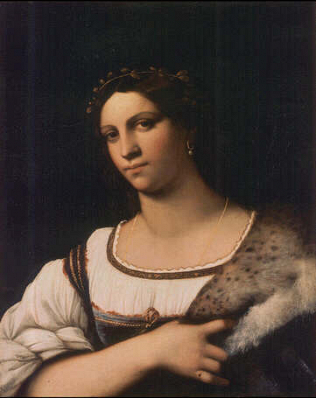 Portrait of a Woman - Sebastiano Luciani called Sebastiano del Piombo (Oil on wood, 68x55)