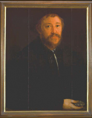 Portrait of Cornelius Gros - Christoph Amberger (Oil on wood, 53.4x43)