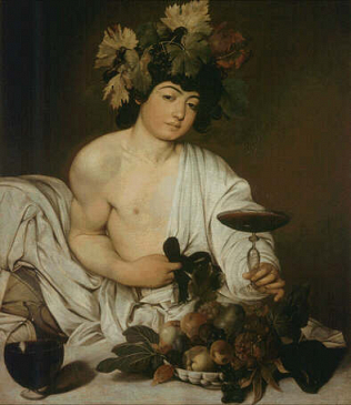Bacchus - Caravaggio (Oil on canvas, 95x85)