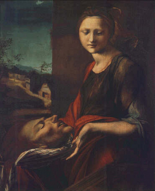 Salome with the Baptist's Head - Alonso Berruguete (Tempera on wood, 87.5x71)