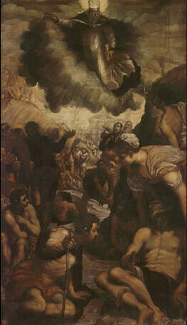 Saint Augustine Heals the Cripples - Domenico Robusti called Tintoretto (Oil on canvas, 186x108)
