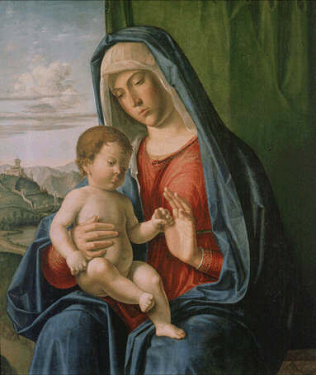 Madonna and Child - Giovanni Battista Cima da Conegliano (Tempera on wood, 66x57)