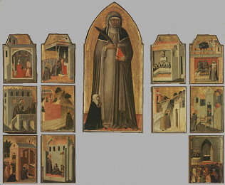 Cusps of the Beata Umiltà Altarpiece - Pietro Lorenzetti (Tempera on wood, 51x21 each one.)