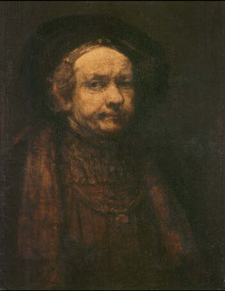 Self-portrait as an Old Man - Rembrandt Harmenszoon van Rijn (Oil on canvas, 74x55)