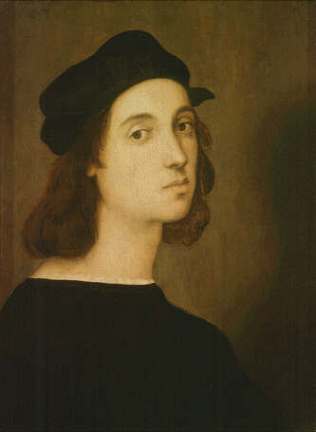 Self-portrait - Raffaello Sanzio called Raphael (Tempera on wood, 47.5x33)