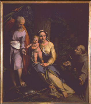 Rest during the Flight into Egypt - Correggio (Oil on canvas, 123.5x106.5)