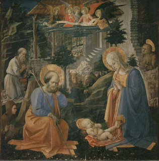 Joseph, Jerome, Mary Magdalen and Hilarion - Filippo Lippi (Tempera on wood, 137x134)