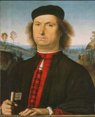 Portrait of Francesco delle Opere - Perugino (Tempera on wood, 52x44)