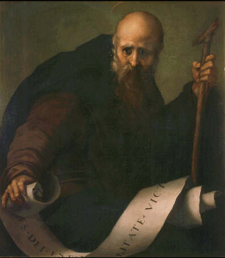 Sain Antony Abbot - Jacopo Carrucci called Pontormo (Oil on canvas, 78x66)