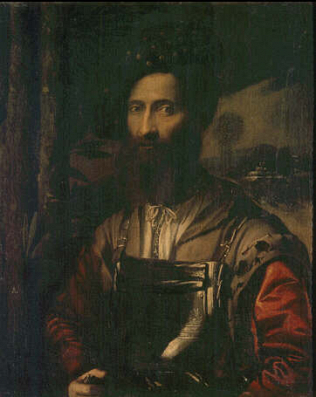 Portrait of a Warrior - Dosso Dossi (Oil on canvas, 86x70)