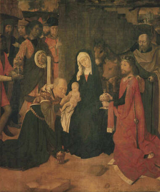 Adoration of the Magi - Gerard David (Tempera on canvas 95x80)