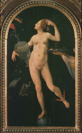 Fortune - Italian Artist of the 16th Century (Oil on wood, 46x27)