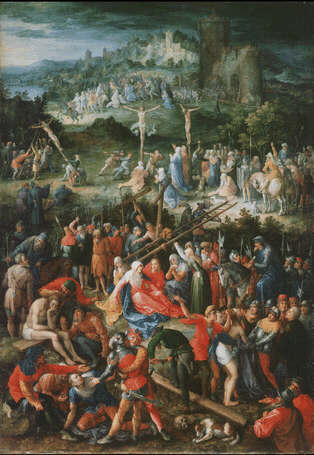 Copy after Albrecht Dürer Calvary - Jan Brueghel the Elder (Oil on wood, 62x42)