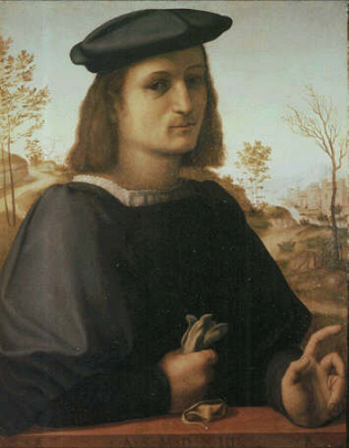 Portrait of a young Man - Francesco di Cristofano called Franciabigio (Tempera on wood, 60x47.jpg)