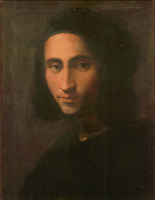 Portrait of a Man - Ridolfo Bigordi called Ghirlandaio (Tempera on wood, 43x33.5)