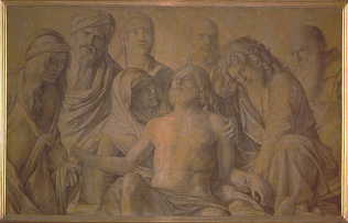 Lamentation - Giovanni Bellini called Giambellino (Tempera on wood, 74x118)