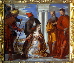 Martyrdom of Saint Justina - Paolo Veronese (Oil on canvas, 103x113)