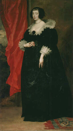 Portrait of Marguerite of Lorraine, Duchess of Orléans - Sir Anthony van Dyck (Oil on canvas, 204x117)