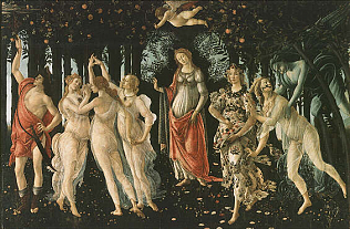 Spring (Primavera) - Sandro Filipepi called Botticelli (Tempera on wood, 203x314)