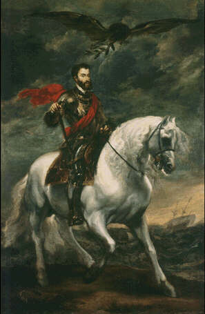 Charles V on Horseback - Sir Anthony van Dyck (Oil on canvas, 191x123)