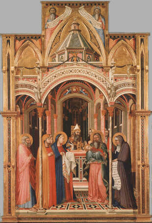 La pr sentation de j sus au temple ambrogio lorenzetti - Galerie des offices florence site officiel ...