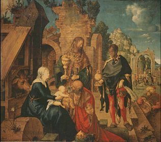 Adoration of the Magi - Albrecht Dürer (Oil on wood, 99x113.5)