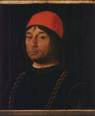 Portrait of Giovanni Bentivoglio - Lorenzo Costa (Tempera on wood, 55x49)