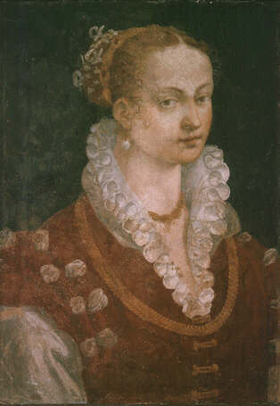 Portrait of Bianca Cappello - Alessandro Allori (Fresco, 75x52)