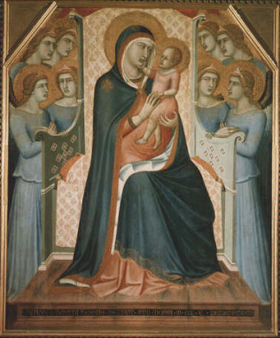 Madonna and Child with Angels. - Pietro Lorenzetti (Tempera on wood, 145x122)