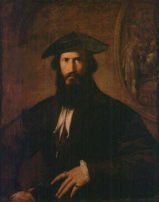 Portrait of a Man - Parmigianino (Oil on wood, 88x68.5)