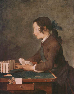 Boy Playing Cards - Jean Baptiste Siméon Chardin (Oil on canvas, 82x66)