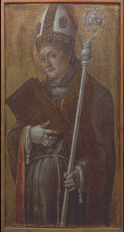 Saint Louis of Toulouse - Bartolomeo Vivarini (Tempera on wood, 68x36)