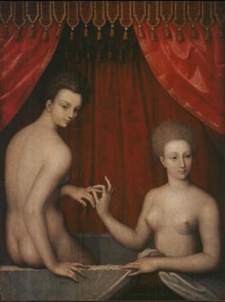 Due donne al bagno :: Fontainebleau School ▻ Seconda metà del XVI ...